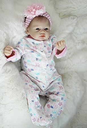 Amazon.es: HOOMAI 22inch 55CM Bebe Reborn niña Silicona Real muñecas ...
