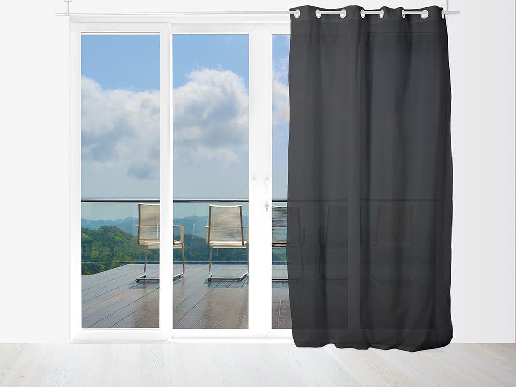 Soleil docre 034101 Panama Voilage avec oeillets Coton Ecru 140 x 240 cm