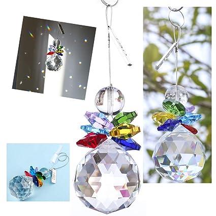 Amazon.com: H & D Bola de vidrio colgante lámpara de araña ...
