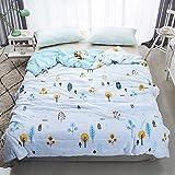 Enjoylife Fresh Style Animal Printed Thin Quilt Cotton Soft Cartoon Comforter Trees Bedspread Twin(59''x79'') for Girls Boys