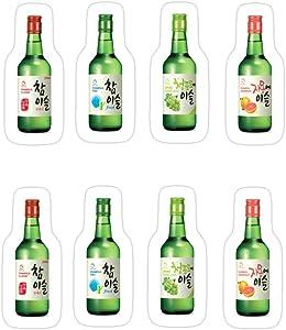 KENNETHHOFFMAN 3 PCs Stickers Soju Jinro Chamisul World Drinks 3×4 Inch Die-Cut Wall Decals for Laptop Window Car Bumper Helmet Water Bottle