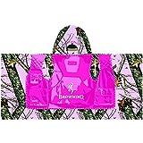 Browning Kid's Hooded Beach Towel Mossy Oak Pink Camo Pink