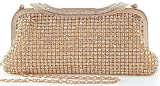 Yuenjoy Womens Dazzling Rhinestone Clutch Purse Evening Bags
