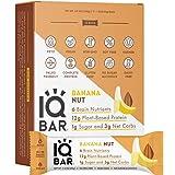 IQBAR Brain and Body Keto Protein Bars - Banana Nut Keto Bars - 12-Count Energy Bars - Low Carb Protein Bars - High…
