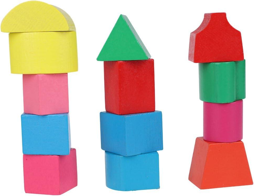 Caja de clasificaci/ón de juguetes con forma de martillo de madera Geometr/ía de madera Aprendizaje de juguetes a juego Regalos para ni/ños Ni/ños peque/ños