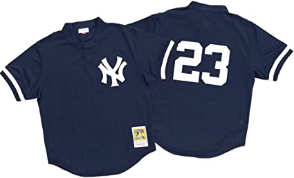 edd840f1 Don Mattingly Navy New York Yankees Authentic Mesh Batting Practice Jersey  4XL (60)