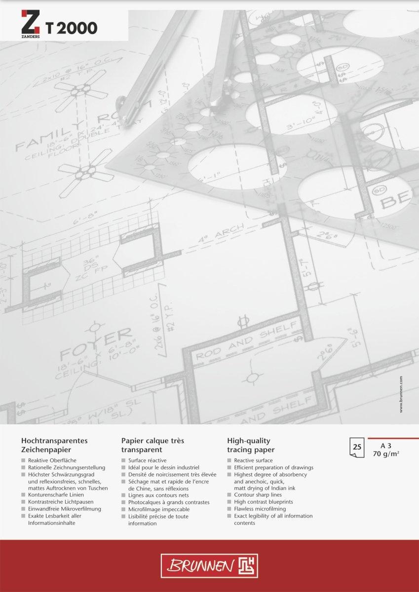 Brunnen 1047369 Zeichen-/Entwurfblock (A3, 90g/m² 50 Blatt ...