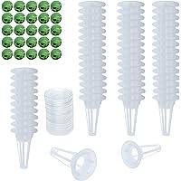 SanSanYa 50PCS Grow Baskets Hydroponics 50PCS Plastic Grow Domes with 20PCS Bonus Seed Pot Labels for Hydroponic Growing…