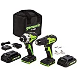Greenworks 24V Cordless Impact Wrench Two 2.0 AH Batteries Included 3800302
