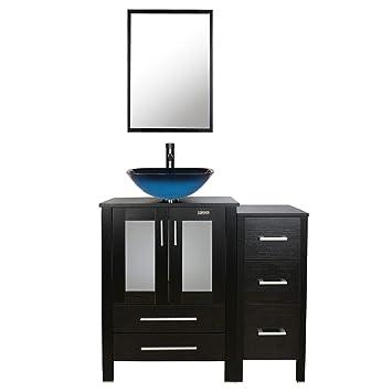 Eclife 36 Bathroom Vanity Sink Combo Black Wside Cabinet Vanity