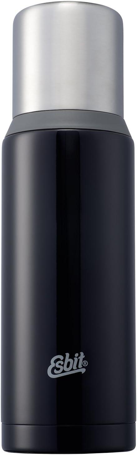 Esbit Isolierflasche, Edelstahl, Dunkelblau, 1L Vacuum Flask, Grey, 1,000 ml