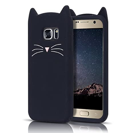 MoEvn Samsung S7 Coque 3D Housses Etuis Silicone Chat Téléphones Protection  pour Samsung Galaxy S7 Flexible 8c9887644a06