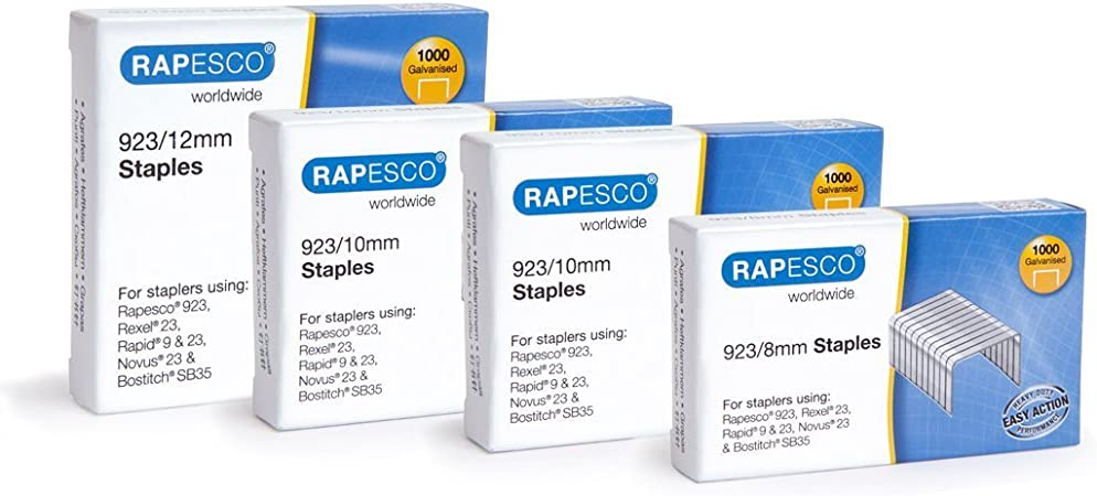 Galvanised Staples 23 Type Rapesco 1484 923//13 mm