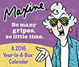 MAXINE  Year-In-A-Box Calendar (2016)