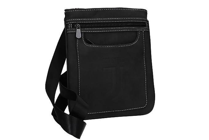 JUVENTUS - ENZO CASTELLANO Tracolla uomo PRODOTTO UFFICIALE borsello nero  VF462  Amazon.it  Abbigliamento faf43fa07c5