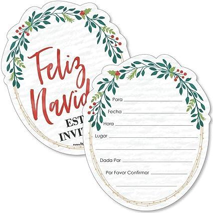 Amazon Com Feliz Navidad Juego De 12 Sobres Con Forma De
