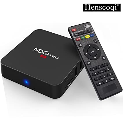 68ef2e667f49c Henscoqi MXQ PRO 4K Android TV Box Quad Core Amlogic Set Top Box WiFi 1G 8G