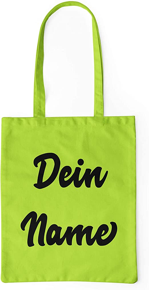 licaso Bolsa de Yute Personalizada con Texto en alemán Nombre se ...