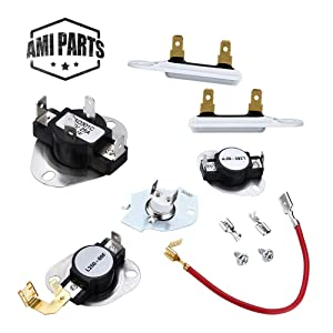 3387134 3977767 Dryer Thermostat,279816 Dryer Thermostat Kit and 3392519 Dryer Thermal Fuse Compatible with Kenmore Whirlpool Dryer ReplacementPart by AMI