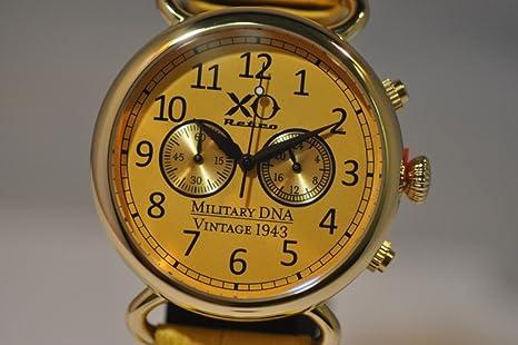 Nueva XO Retro Hombres del vuelo B-17 fortaleza segunda guerra mundial 1943 Militar ADN Cronógrafo Reloj: Amazon.es: Relojes