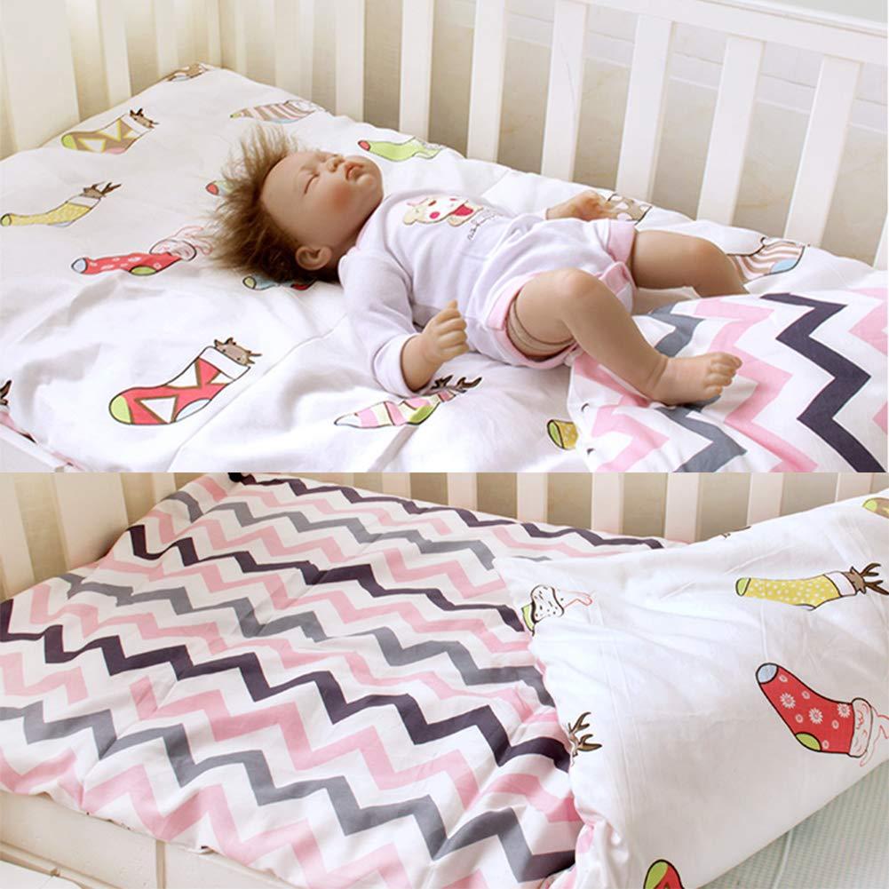 LWZY Baby Washable Sleeping Pad,Cotton Detachable Roll Up Toddler Nap Crib Bassinet Mat for Preschool Daycare Boys Girls-c 130x70cm(51x28inch) by LWZY