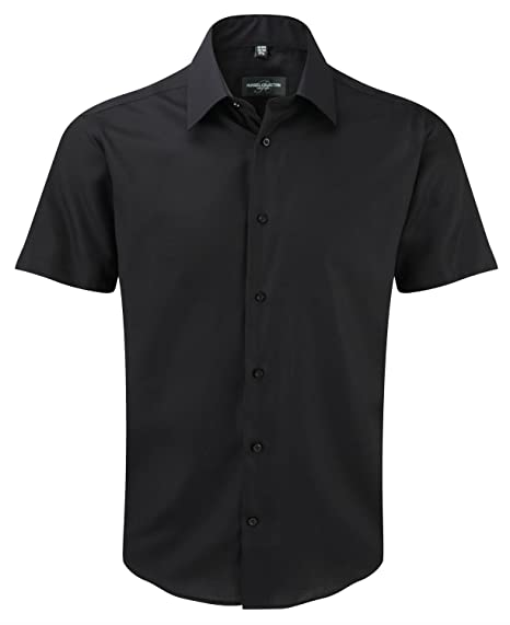 6746a711293d7 Russell Short Sleeve Tailored Ultimate Non-Iron Shirt  Amazon.co.uk   Clothing