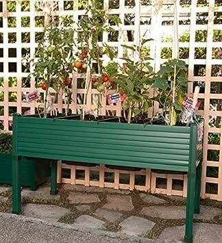 Huerto urbano GREENLAND 120x60x75 cm. Para terraza/jardín. Color:Verde: Amazon.es: Jardín