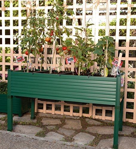 Hochbeet für Terrassen / Garten. 120x60x75 cm. Farbe: grün