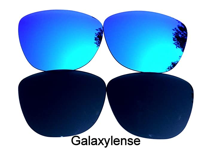 277d2df3edd Galaxy Replacement Lenses for Oakley Frogskins Black Blue Color Polarized 2  Pairs