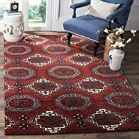 Safavieh Wyndham Collection WYD201A Handmade Red Wool Area Rug, 4 feet by 6 feet (4 x 6)