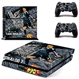 Ambur® PS4 Designer Skin Game Console System plus Two(2) Controller Decal Vinyl Protective Covers Stickers for Sony PlayStation 4 - ps4 skin soccer Real Mardrid