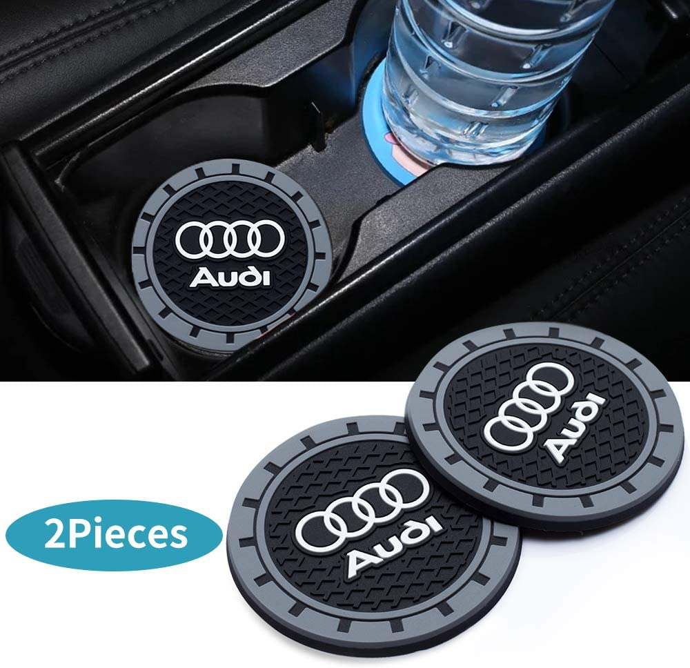 HEY KAULOR 2 Pcs 3 inch Vehicle Travel Auto Cup Holder Insert Coaster Mat for Subaru All Models