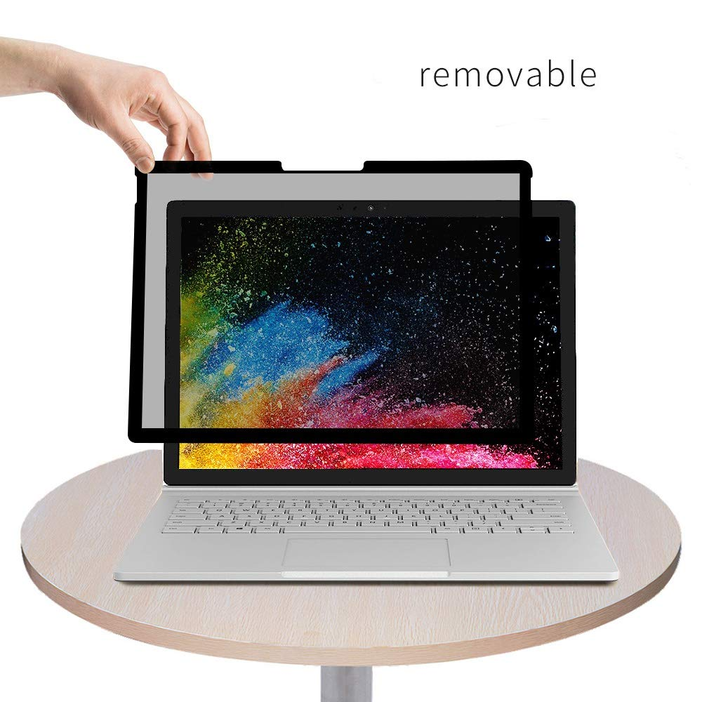 Fully Removable Privacy Screen Protector Filter for Microsoft Surface Book 2/1 13.5inch, Anti-Spy Filter,Reusable and Removable,Privacy Filter for Surface Book 1/2 13.5inch