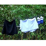 HAWATOUR Portable Elastic Travel Clothesline with
