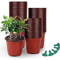 Deals on GROWNEER 120 Packs 4 Inches Plastic Plant Nursery Pots