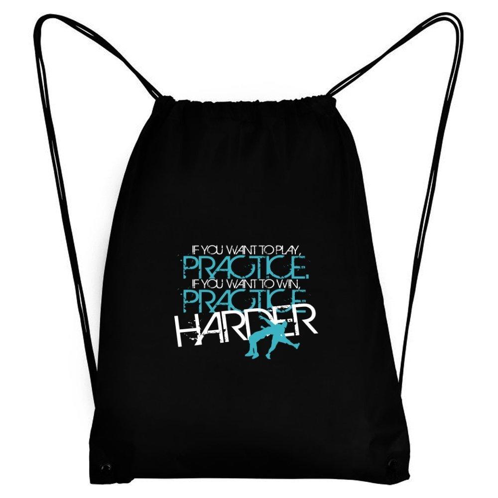 Teeburon PRACTICE HARDER Wrestling Sport Bag