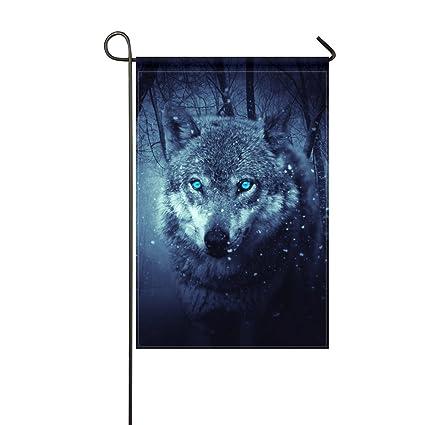 Amazon.com: aikening bandera de Jardín Wolf Predator ...