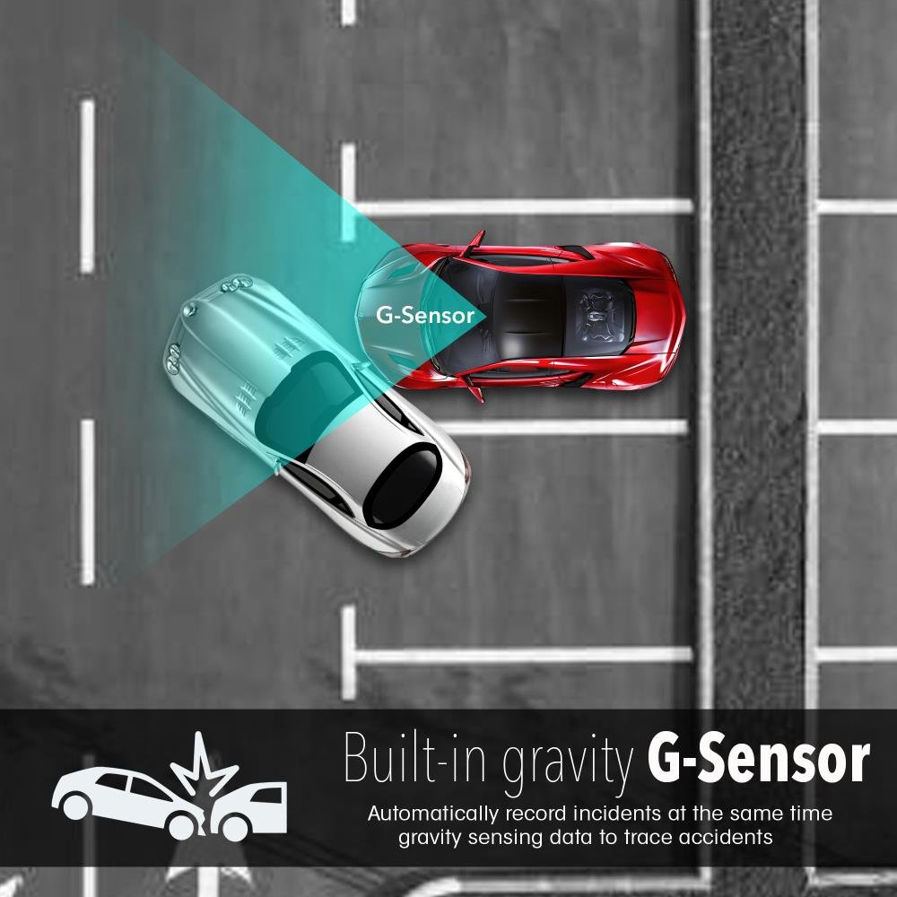"""1.5/"""" Digital Screen Rear View Dual Camera Video Recording System in Full HD 1080p w//Built in G-Sensor Parking Monitor /& Loop Video Recording Support Pyle PLDVRCAM74 Sound Around Dash Cam Rearview DVR Monitor"""