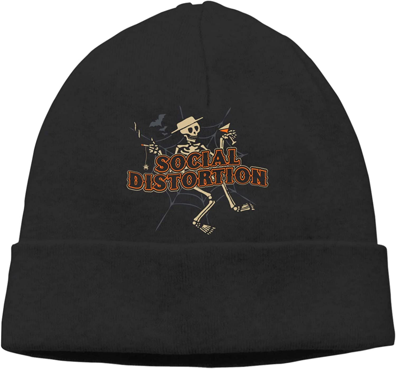 NaohBent Social Distortion Fashion Beanie Caps Men Women Warm Hedging Cap Casual Knitting Hat