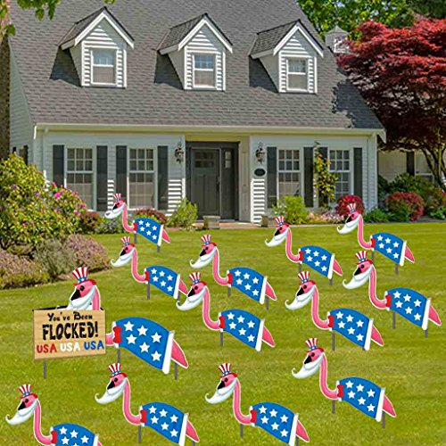 VictoryStore Yard Sign Outdoor Lawn Decorations: Patriotic Lawn Decorations You've Been Flocked]()