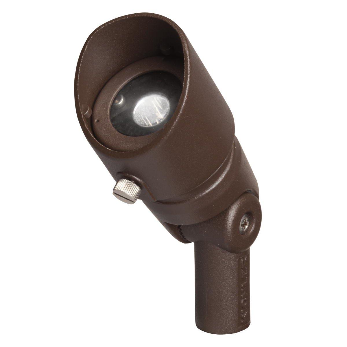 Kichler Lighting 16003AZT27 Landscape Aluminum 12V/4-watt 1-Diode LED 10-Degree Adjustable Spot Light, Textured Architectural Bronze
