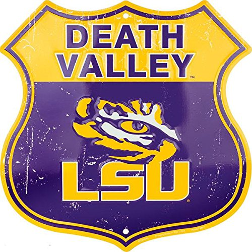 Tigers Sign - HangTime Death Valley - LSU Tigers Shield Sign