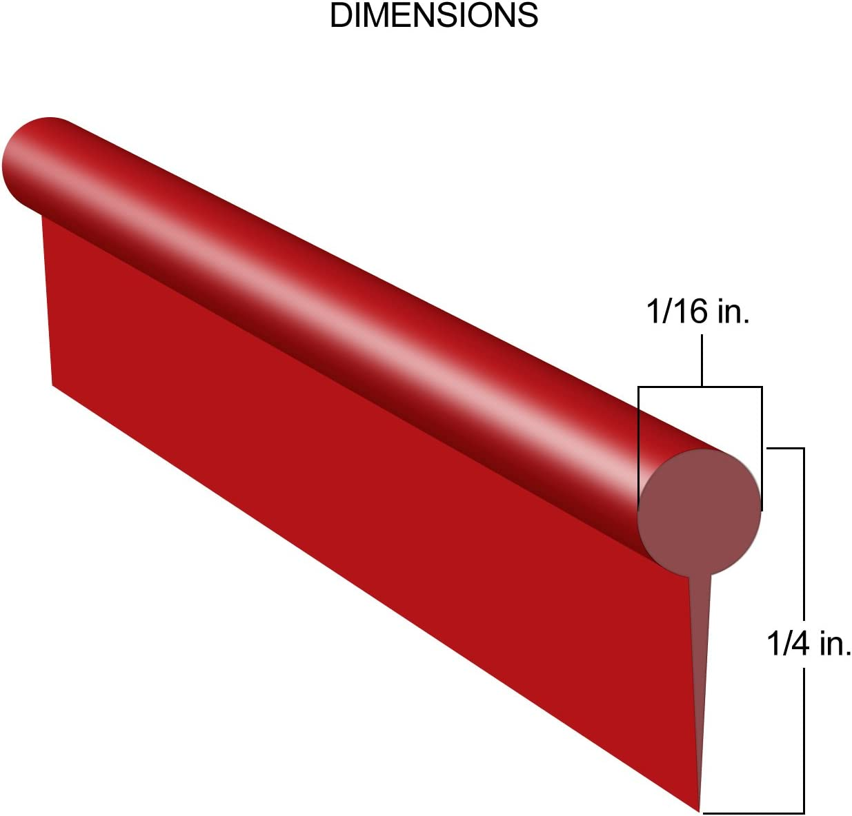 Red Gap Trim for Car SUV Truc Interior and Exterior 20 Feet Long