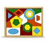 Carlu Brinquedos - Geométrico Quebra-Cabeça da 24 Peças, 4+ Anos, Multicor, 1630