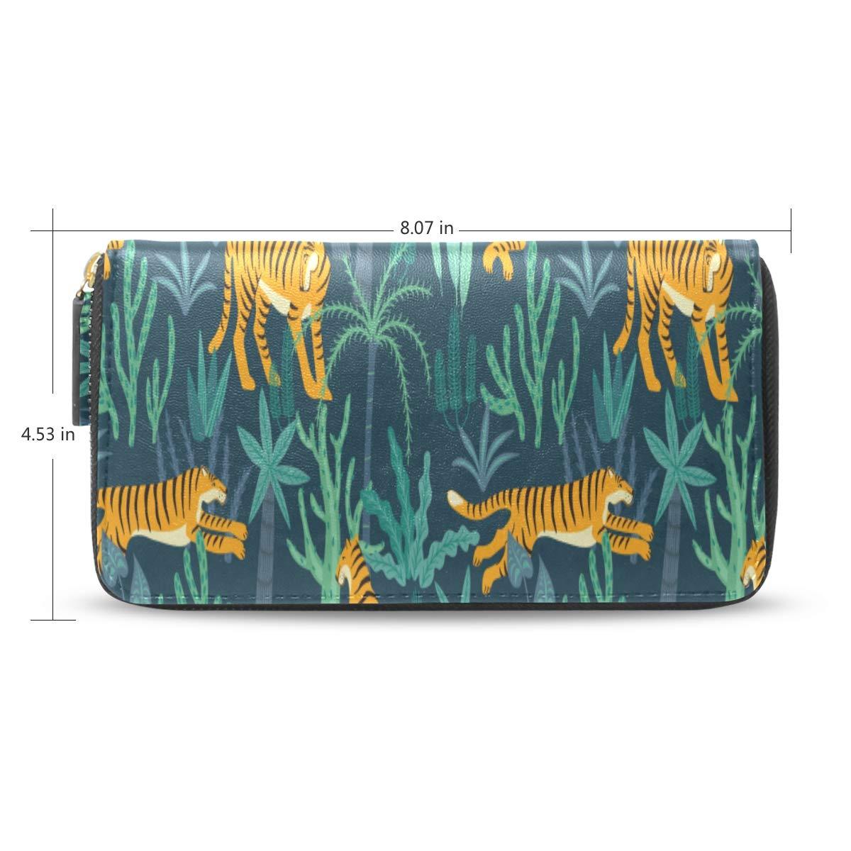 Tiger Leopard Patrón Accesorio moda Pasaporte largo Embrague ...