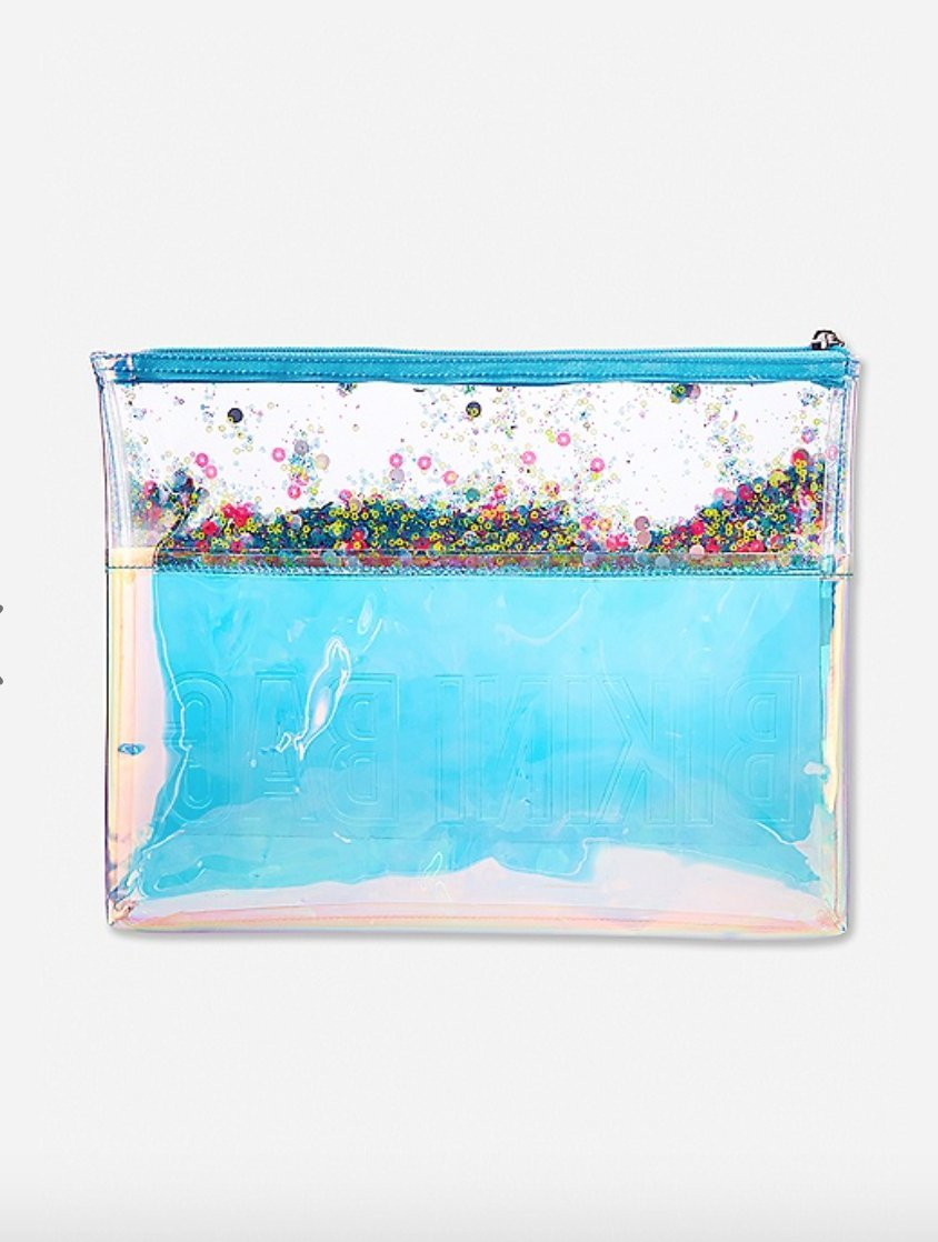 Justice Swim Beach Bikini Clutch Bag for Girls Iridescent Shaky by Justice (Image #2)