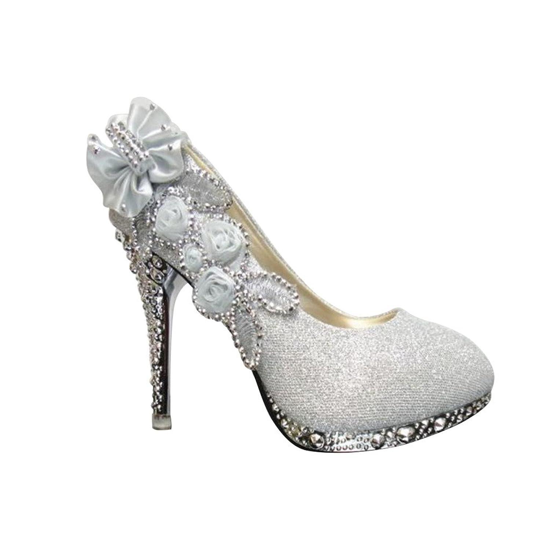 Optimal Women 3D Flowers Rhinestone Bling Shoes