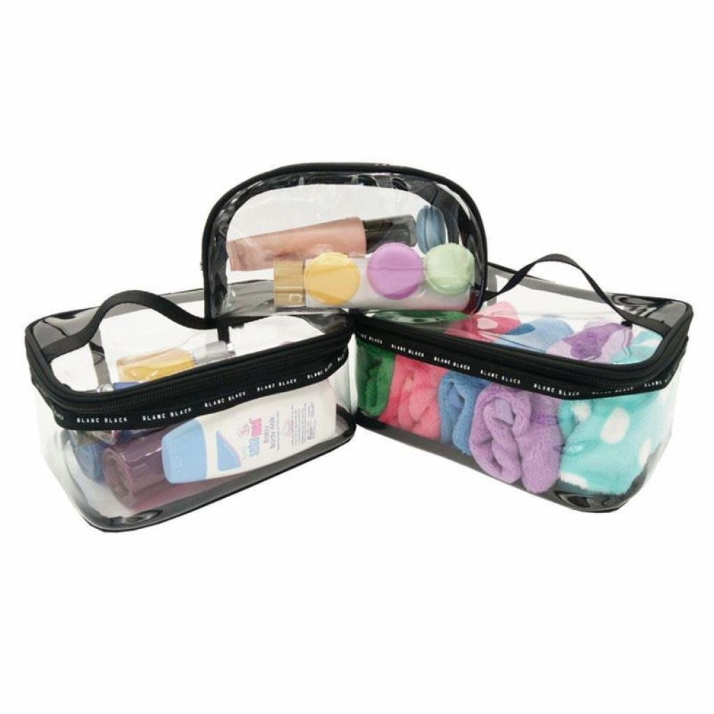 d4ea979fd1af LOUISE MAELYS Portable Clear Makeup Bag Zipper Waterproof ...