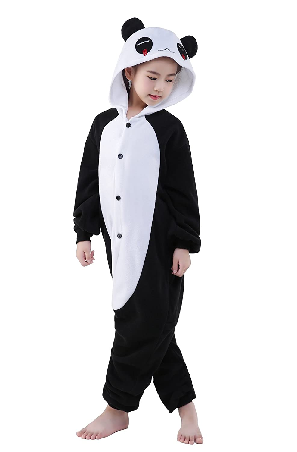 CANASOUR Christmas Polyster Kids Unisex Cosplay Cosplay Costume 105#, Red Eye Panda
