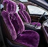 YAOHAOHAO The Australia Auto sheepskin seat covers real fur Car Seat Cover Car Seat Cushion Winter stylish lint